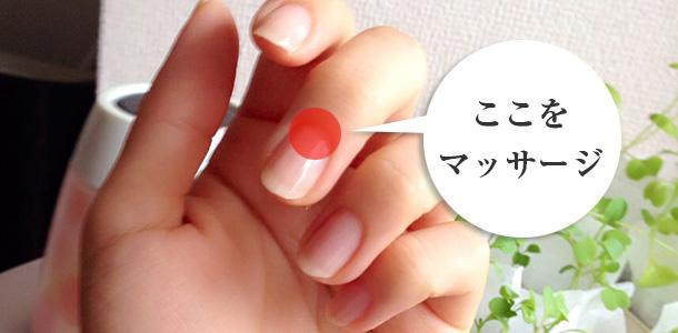 爪をマッサージ