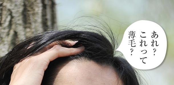 薄毛の見分け方